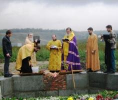 Освящение закладного камня в с. Серебряное (Горьковское благочиние)