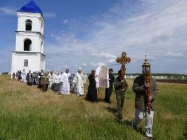Богослужение в селе Ольховка