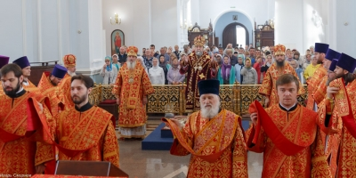 Панихида о новопредставленном митрополите Феодосии