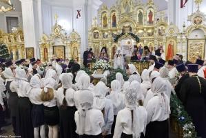 Богослужение в Успенском соборе