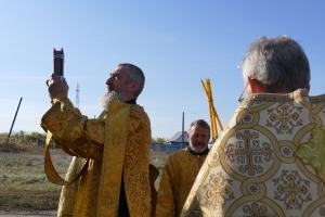 Богослужение в походном храме